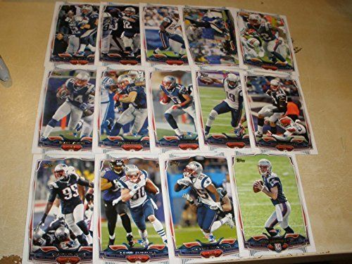 SUPER BOWL CHAMPS - 2014 Topps New England Patriots 14 Card Complete Team Set Shipped in an Acrylic Case - Includes: Jimmy Garoppolo,…