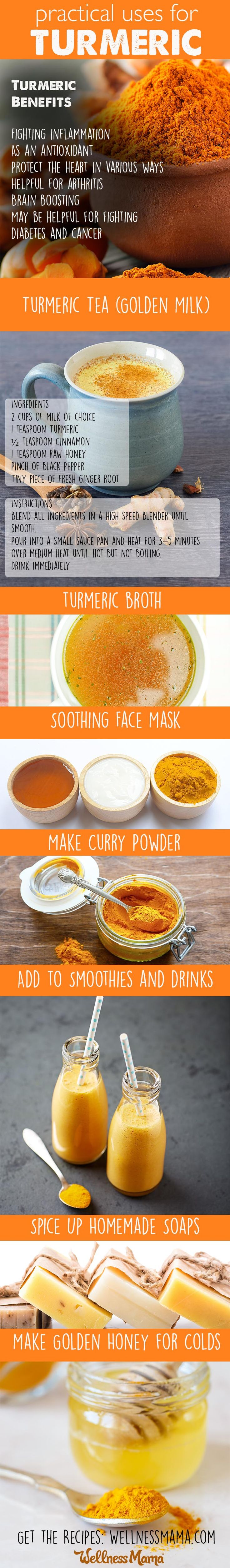 Practical ways to use turmeric in cooking, beauty and remedies. This is why I always keep this around our house, especially in winter.