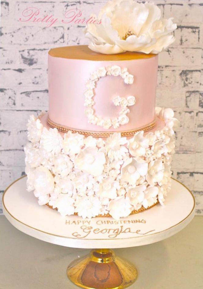 Pretty Parties - Custom Cakes CH-10 Christening / Communion / Confirmation Cake www.prettyparties.net.au