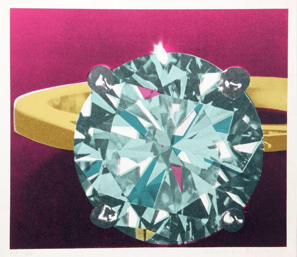 Richard Bernstein, Diamond, Silkscreen on Chairish.com