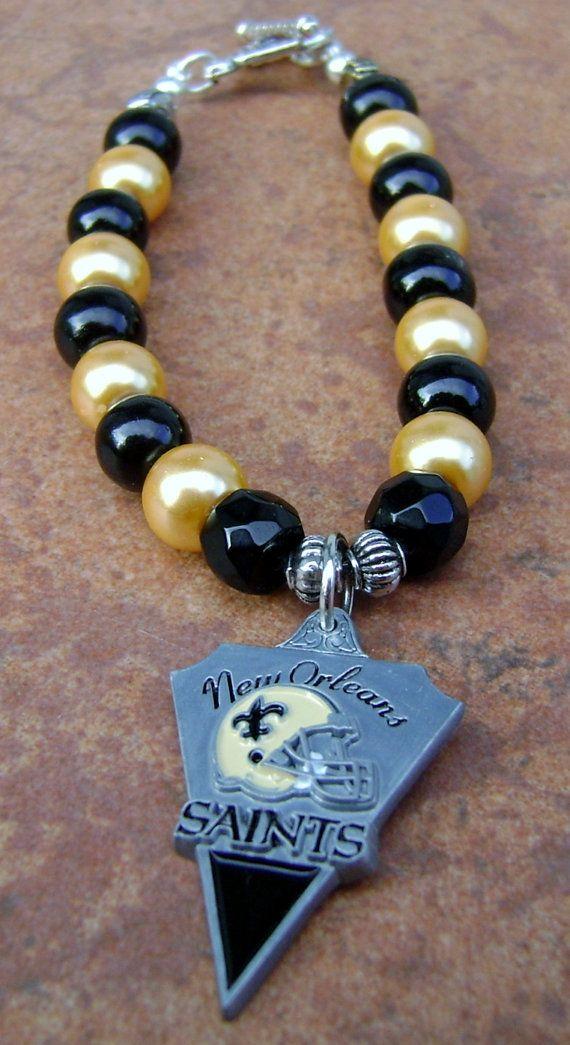 New Orleans Saints One Charm Bracelet
