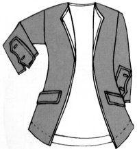 La carmagnole, veste courte, portée cintrée, très près de la tailleur.  - forme de la veste carmagnole.