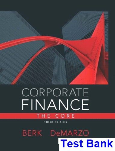 corporate finance final exam solutions