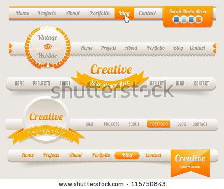 Vector Header Menu Design - stock vector