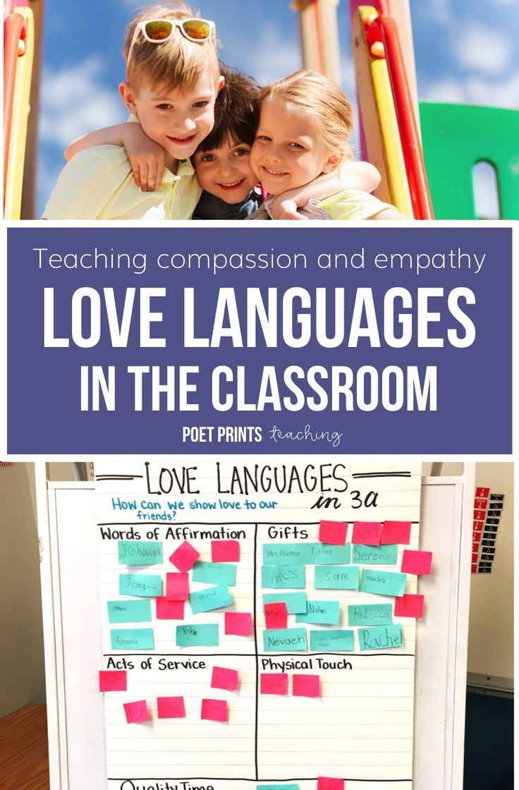 Easy tips to use Love Languages to teach compassion and empathy in an elementary classroom - great for character building with my students! #classroomcommunity #kindness
