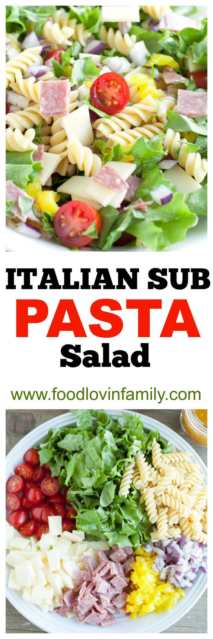 Italian Sub Pasta Salad  Pasta Salad  Italian Pasta Salad  Pot Luck  Salad 