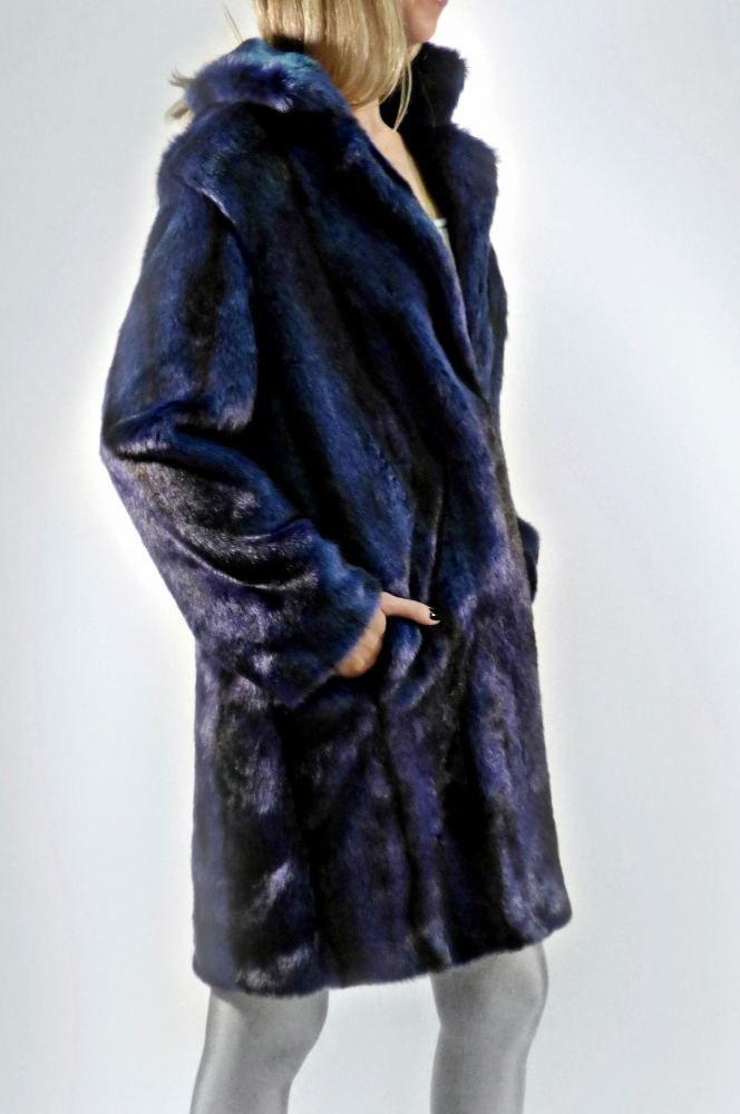 Blue Tigris Faux Fur