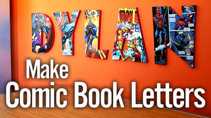 Create Comic Book Lettering Nursery Wall Art. Repurpose that old pile of comic books into unique wall art.
