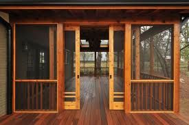 craftsman style screened porch - pretty sure i've pinned this before but i LOVE this...especially the sliding screen doors.