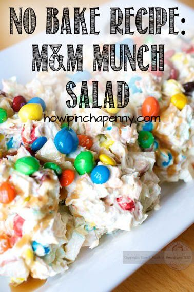 #shop No Baking Recipe: M&M Munch Salad.  Take It To Your Next Party!  #BakingIdeas #cbias