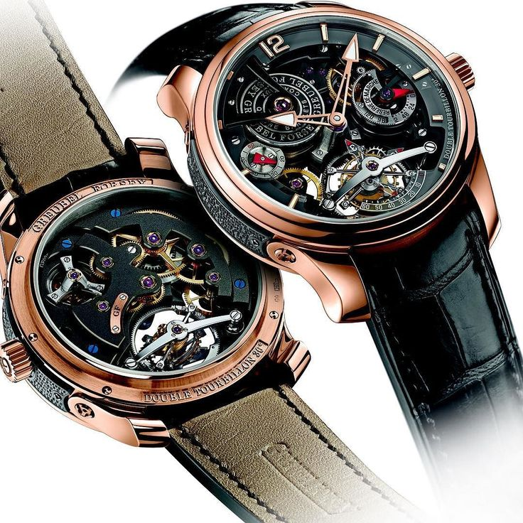 Greubel Forseys first #invention Double #Tourbillon 30 Technique Bi-Colour 5N #RedGold #Unique #edition of 22 pieces  beats at the heart of several #creations particularly the #Technique #Asymetrique #BiColour and Black models. A cage which rotates in #FourMinutes an #InnerCage containing the #BalanceWheel is inclined at an angle of 30 degrees relative to the first cage which completes a #revolution in #SixtySeconds.. The #combination of the 30 #inclination with the different #rotational…