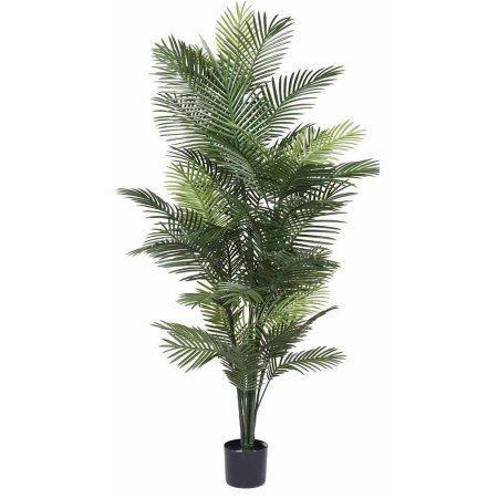 Vickerman 72 inch Artificial Robellini Palm Tree, Green