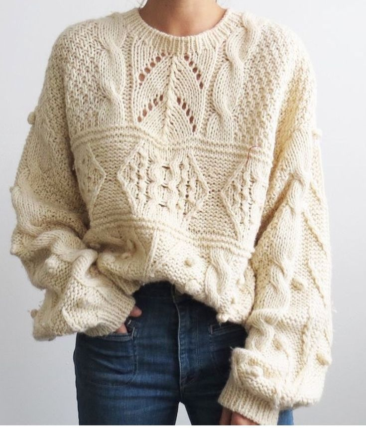 fashion #crocheted #knitted #sweater #fashionwinter