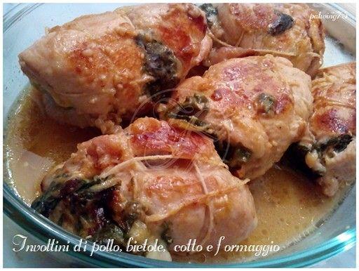 Involtino di pollo ripieno di bietole, cotto e formaggio