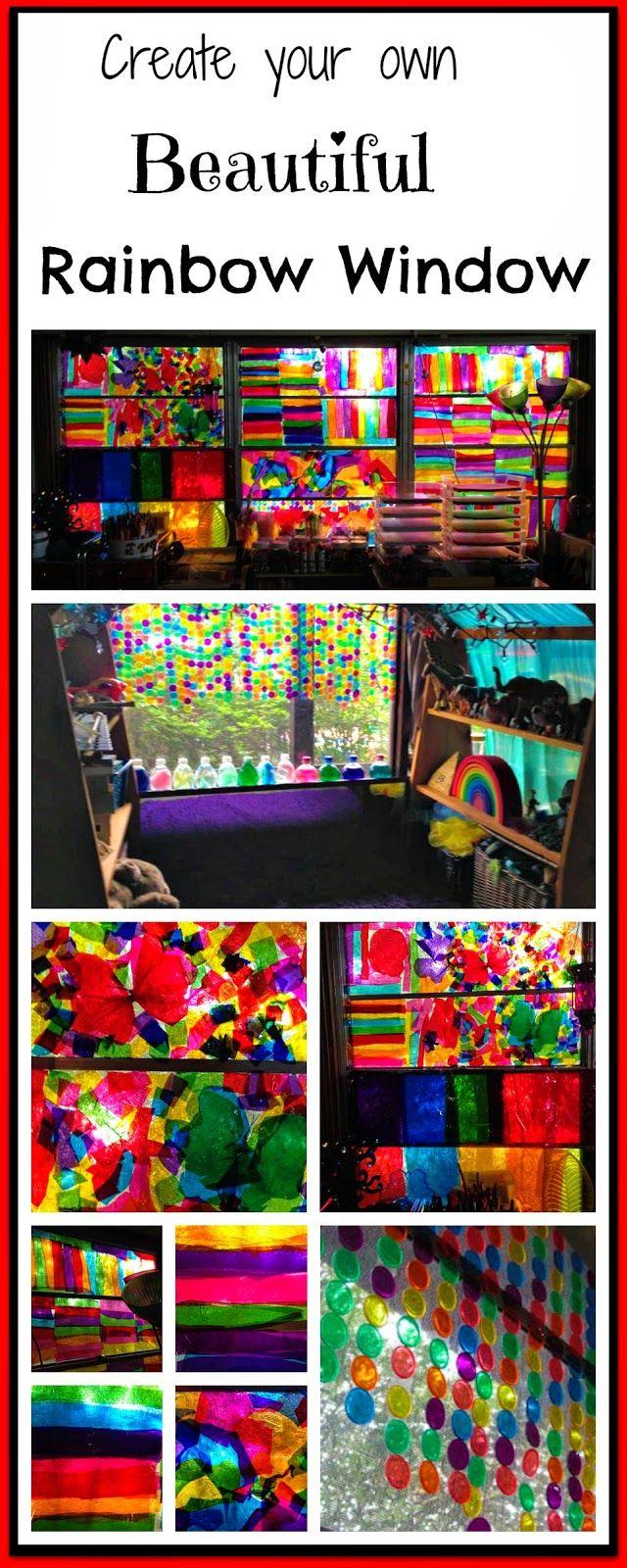 CAUTION! Twins at play!: Create a Beautiful Rainbow Window