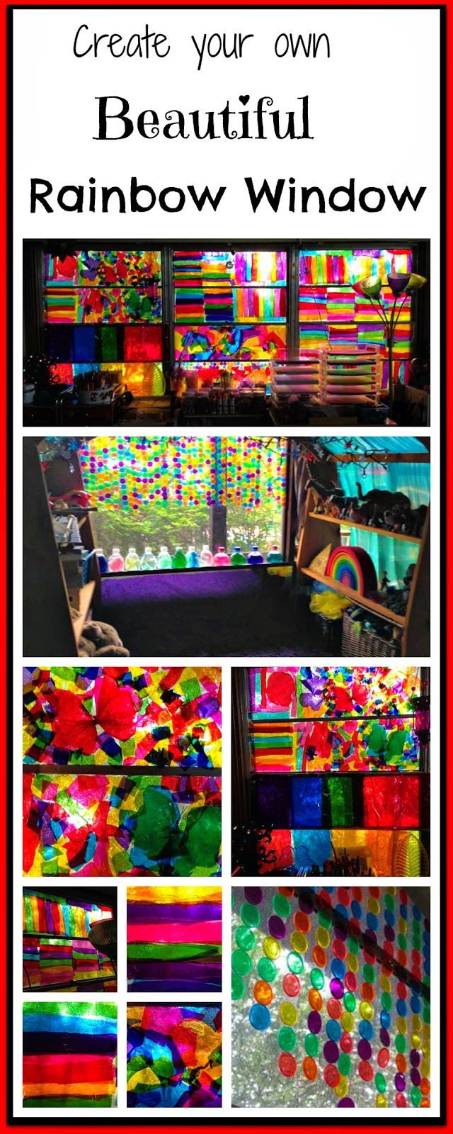 What a great activity for children who experience long hospitalizations/are on isolation-Create a Beautiful Rainbow Window #cclsresource
