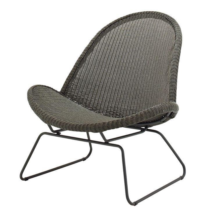 Cadeira lounge trenó para jardim Coleção Bepal by Gloster design Henrik Pedersen