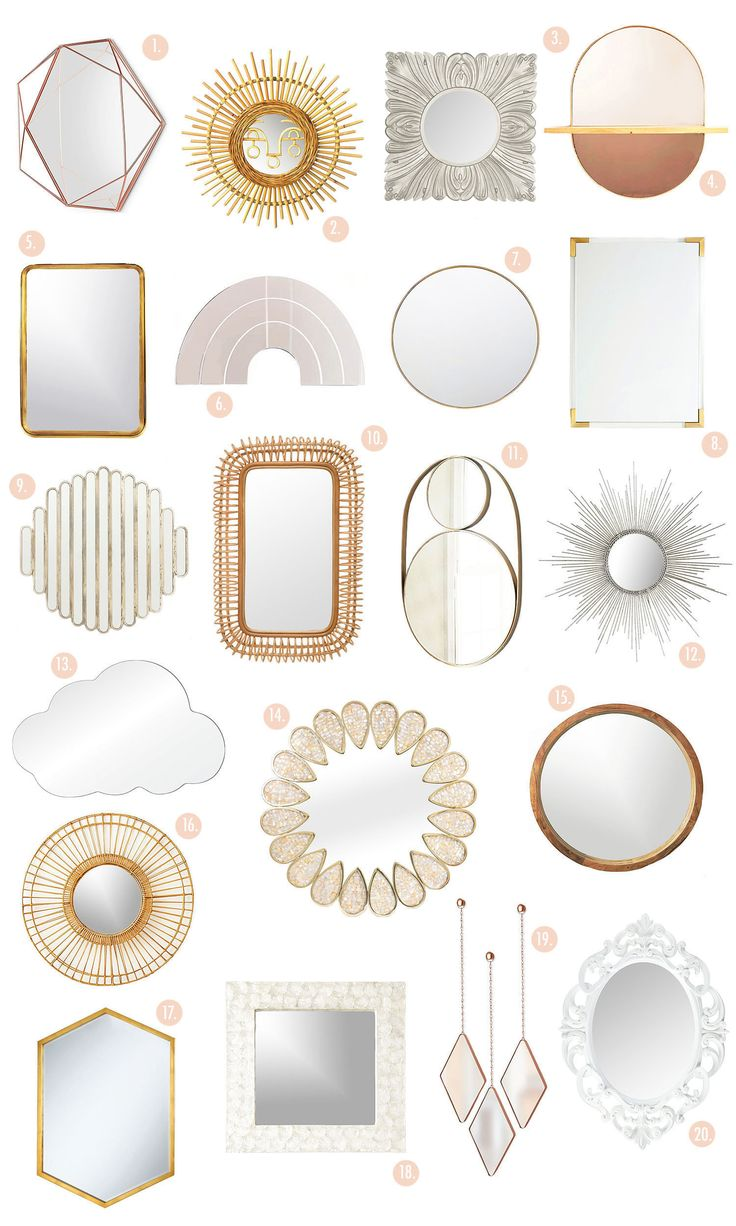 The Ultimate Wall Mirror Shopping Guide! | www.homeology.co.za #decor #mirror #beautifulhome #homedecor #reflections