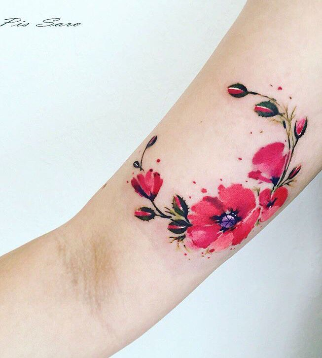 Flor roja tatto