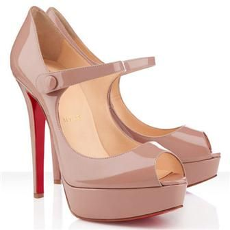 Christian Louboutin Bana 140mm Patent Leather Pumps Nude