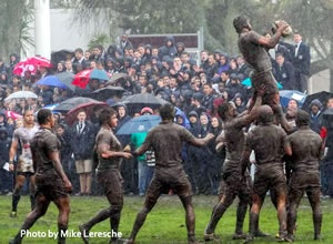 Wynberg Boys' High School vs SACS in August 2012: 8 - 7 to Wynberg in the rain on the SACS Memorial A Field