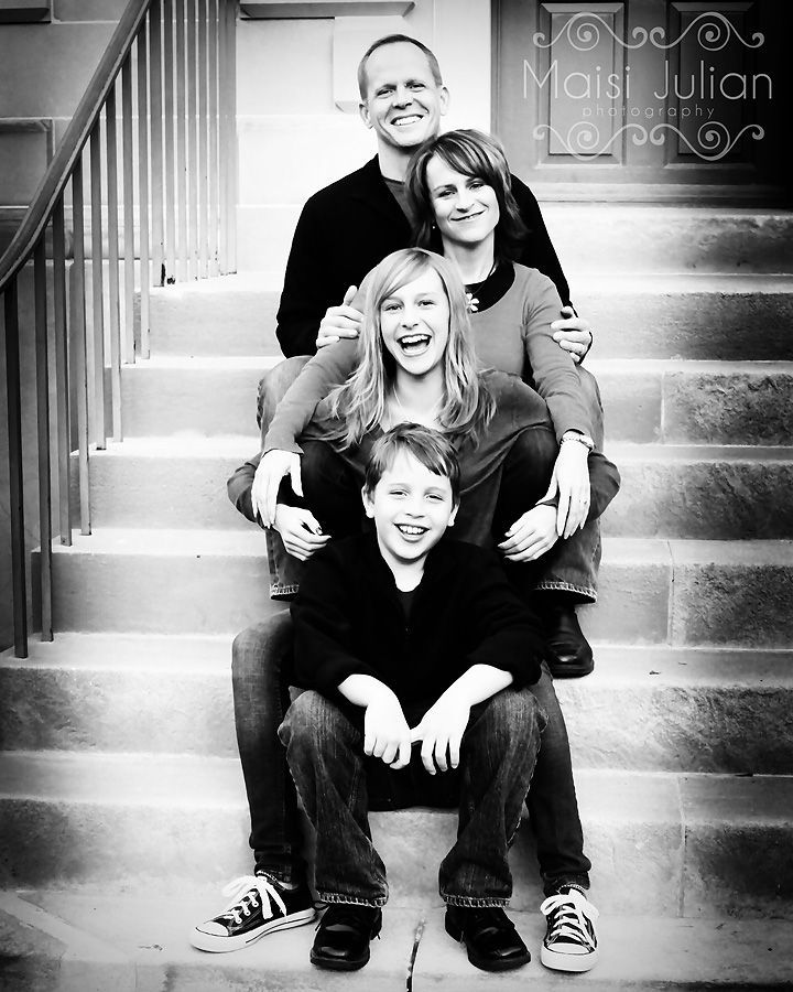 posing family on stairs - Google Search