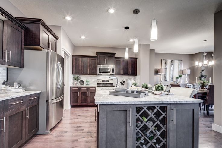 Built-in #wine rack? Yes please! http://blog.yourpacesetter.com/blog/bid/335496/New-Show-Home-The-Kristana-in-Crystallina