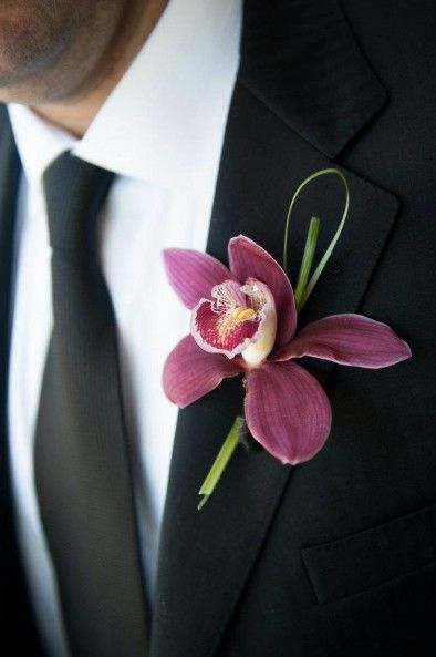 Orchid boutonniere by Sunflower Florist