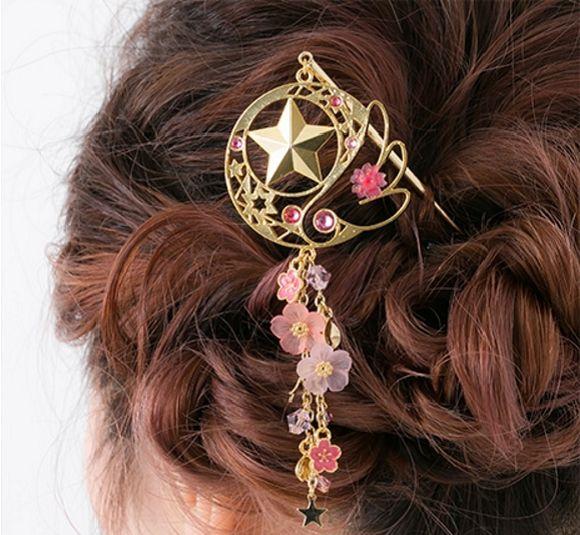 Grampo inspirado em Sakura Cardcaptor | garotasgeeks.com | #cardcaptorsakura #sakuracardcaptor #ccs #produtos #acessórios #accessories #grampo #garotasgeeks