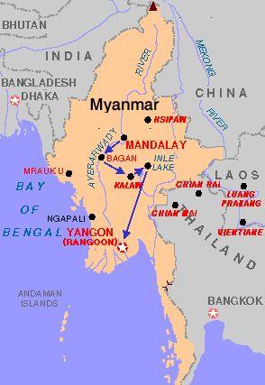 República de la Unión de Myanmar Capital Naipyidó 54.000.000 habitantes (2004) Idioma Birmano Moneda Kyat (MMK)