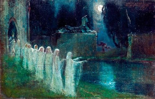 Lajos Gulácsy - Daughters of the Night