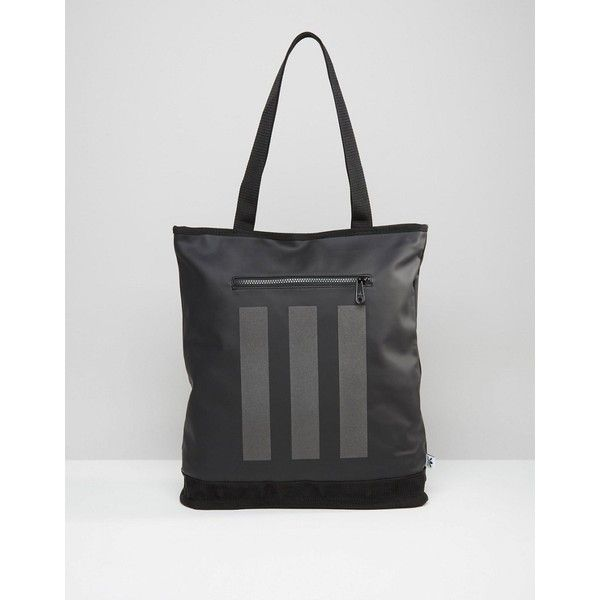 adidas Originals Tote Bag In Black AY8662 (69 NZD) ❤ liked on Polyvore featuring men's fashion, men's bags, black and mens tote bag