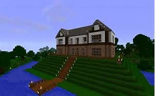 Nice wooden/brick house on top of a hill