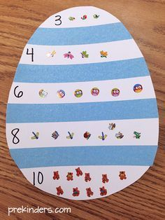 Easter Counting for Preschool Kids