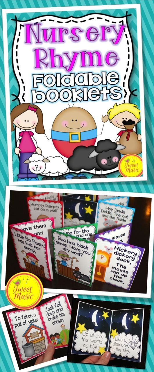 18 NURSERY RHYMES~115 PAGES! A perfect addition to your nursery rhyme unit: Nursery Rhyme Foldable Booklets and Posters (In color and B/W) Rhymes included: Humpty Dumpty, Mary Had A Little Lamb, Baa Baa Black Sheep, Old Mother Hubbard, Three Blind Mice and many more! $$