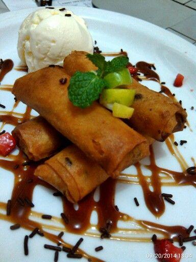 Banana Roll… #GaremGarem #Sweets #GoodFood #Bandung #Culinary
