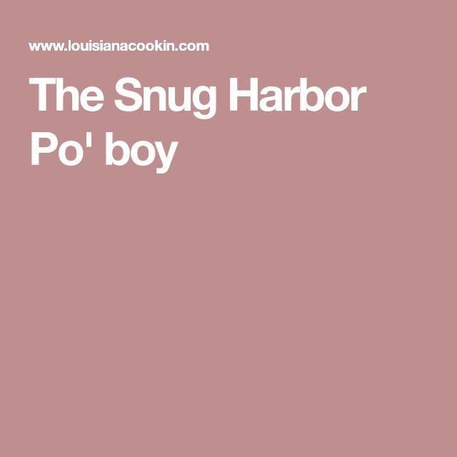 The Snug Harbor Po' boy