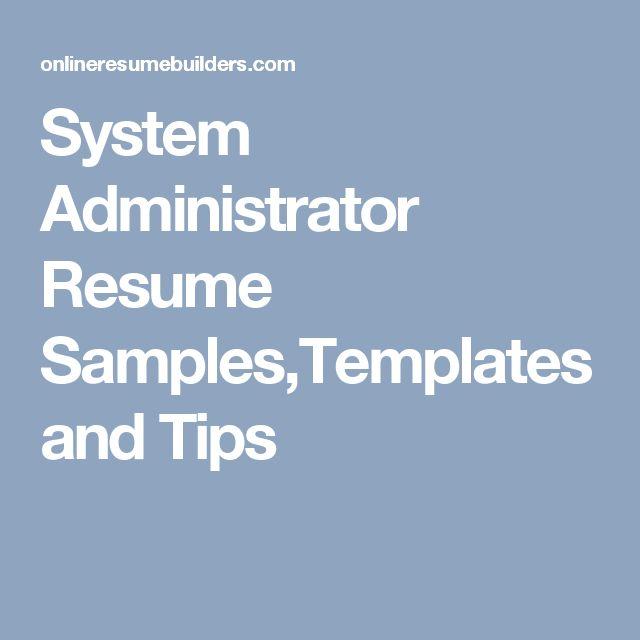 Přes 25 nejlepších nápadů na téma System Administrator na Pinterestu - systems administrator resume