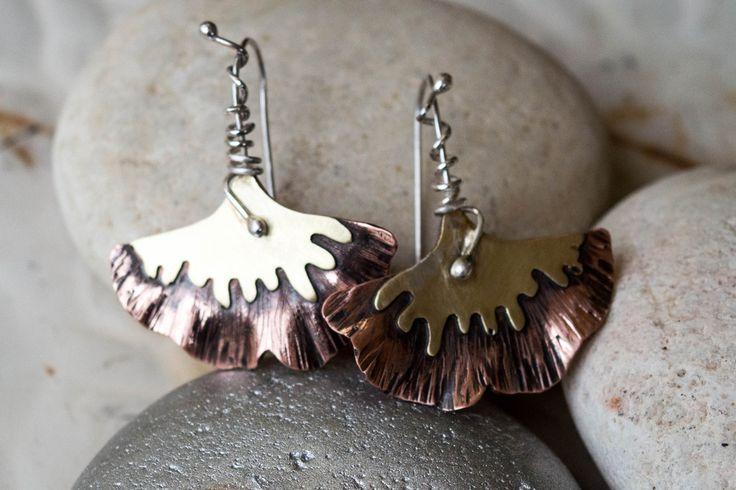 Σκουλαρίκια από χαλκό, ορείχαλκο και ασήμι
