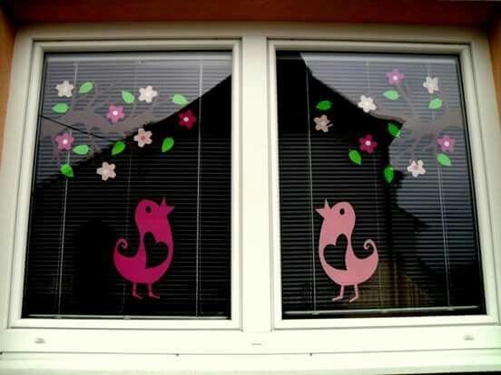 İlkbahar cam süsleme sanatı