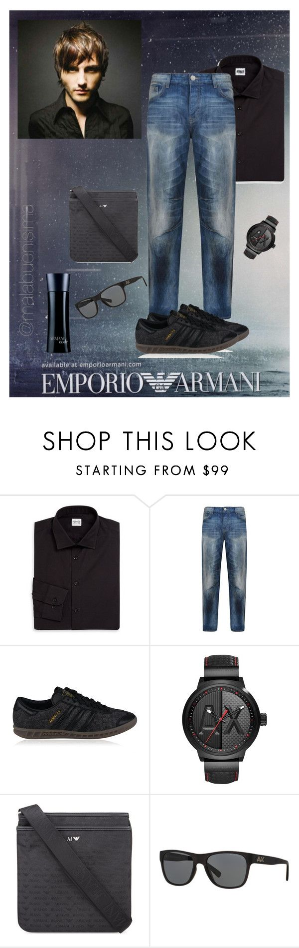 """Armani for mens"" by malabuenisima ❤ liked on Polyvore featuring Emporio Armani, Armani Collezioni, Armani Jeans, adidas Originals, Armani Exchange, Giorgio Armani, men's fashion and menswear"