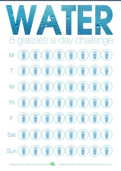 water tracking worksheet.