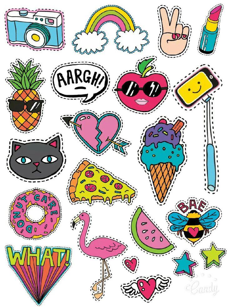 Cartoon Style-Stickers Printable #free#stickers#printable#cartoon#cute#scrapbooktools#diy#handmade#candycameraapp