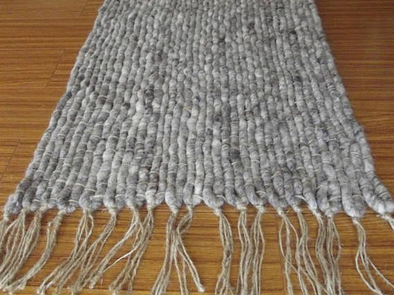 Wool Jute  Handwoven Rug Gray Natural Rug Area Rug  Woven https://www.etsy.com/listing/520052486/wool-jute-handwoven-rug-gray-natural-rug?ref=related-1