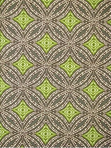 """Sun Swirl Fossil.  Tommy Bahama Fabric - Island Memories Collection. 100% cotton canvas batik print. Multi purpose home decorator fabric for drapery, upholstery, pillows, top of the bed or slipcovers. V 4.5"""" / H 2.25"""". Made in U.S.A. 54"""" wide."""