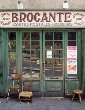 Brocante shop... makes me giddy just looking at it.