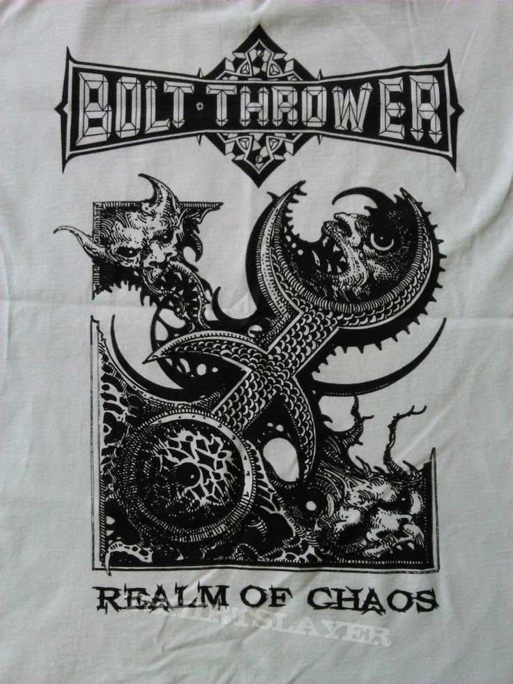 Bolt thrower realm of chaos white shirt