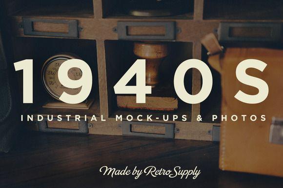 1940s Industrial Design Mock-Ups by RetroSupply Co. on Creative Market