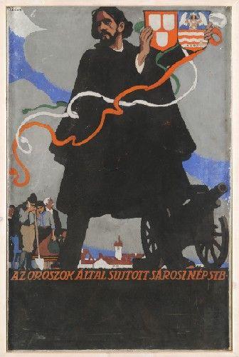 Földes Imre Sárosi menekült akció Plakátterv 1915