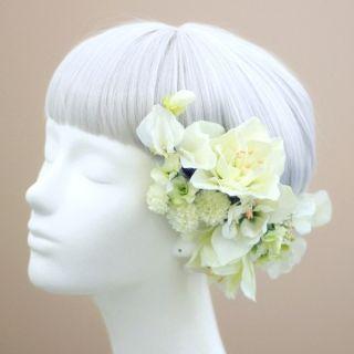 アマリリスの髪飾り(白)